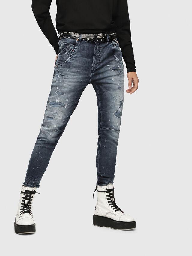 Diesel - Fayza JoggJeans 069CC, Bleu Foncé - Jeans - Image 1