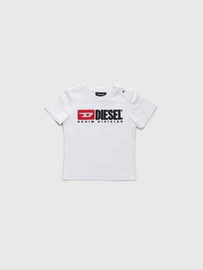Diesel - TJUSTDIVISIONB, Blanc - T-shirts et Hauts - Image 1