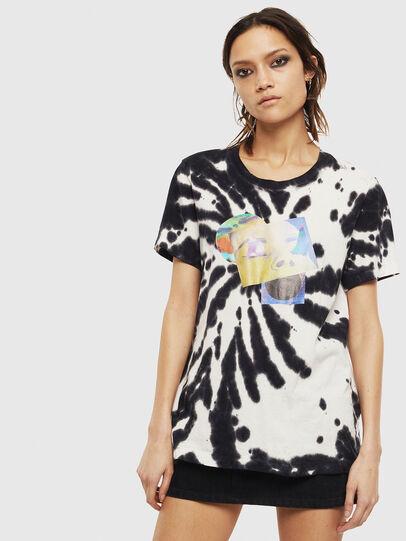 Diesel - T-SILY-S4, Noir/Blanc - T-Shirts - Image 1