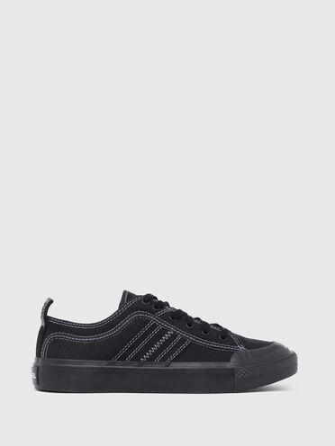 Sneakers basses en coton bicolore