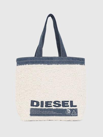 Diesel - F-THISBAG SHOPPER NS, Blanc/Bleu - Cabas et Sacs d'Épaule - Image 1
