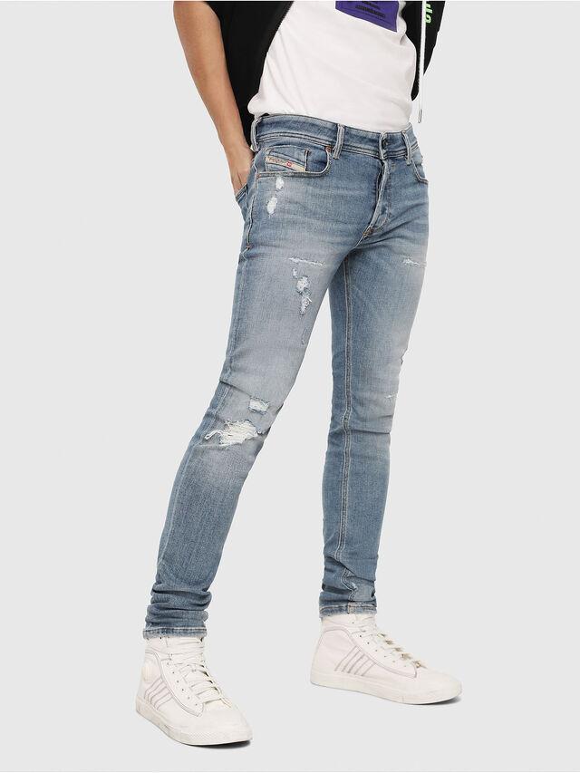 Diesel - Sleenker 086AT, Bleu Clair - Jeans - Image 1