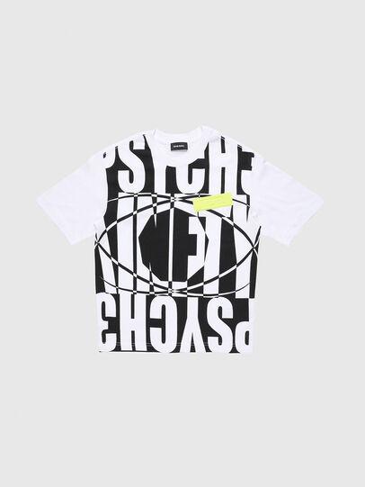 Diesel - TLUCASSLY1 OVER, Blanc/Noir - T-shirts et Hauts - Image 1