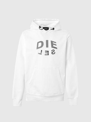 Sweat-shirt à capuche avec logo imprimé «DIE-SEL»