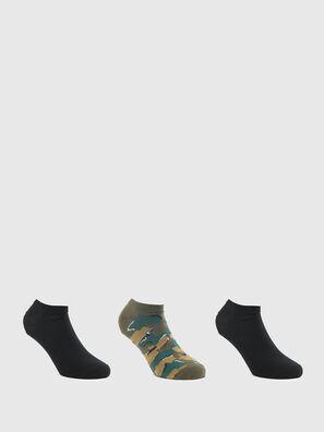 SKM-GOST-THREEPACK, Vert/Noir - Chaussettes