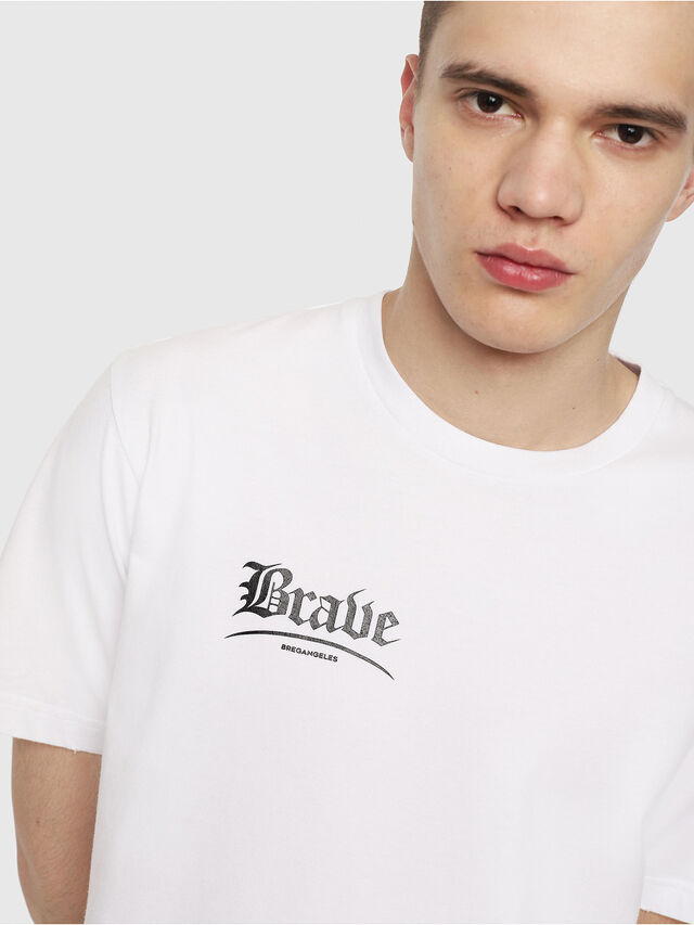 Diesel - T-JUST-Y14, Blanc/Noir - T-Shirts - Image 3