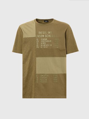 T-shirt patchwork avec imprimé Schedule