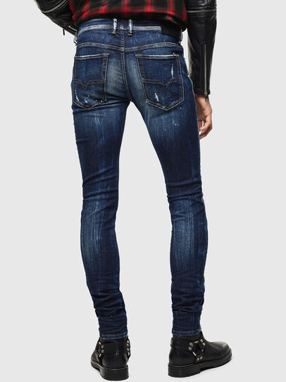 Diesel - Sleenker 0097L, Bleu Foncé - Jeans - Image 2