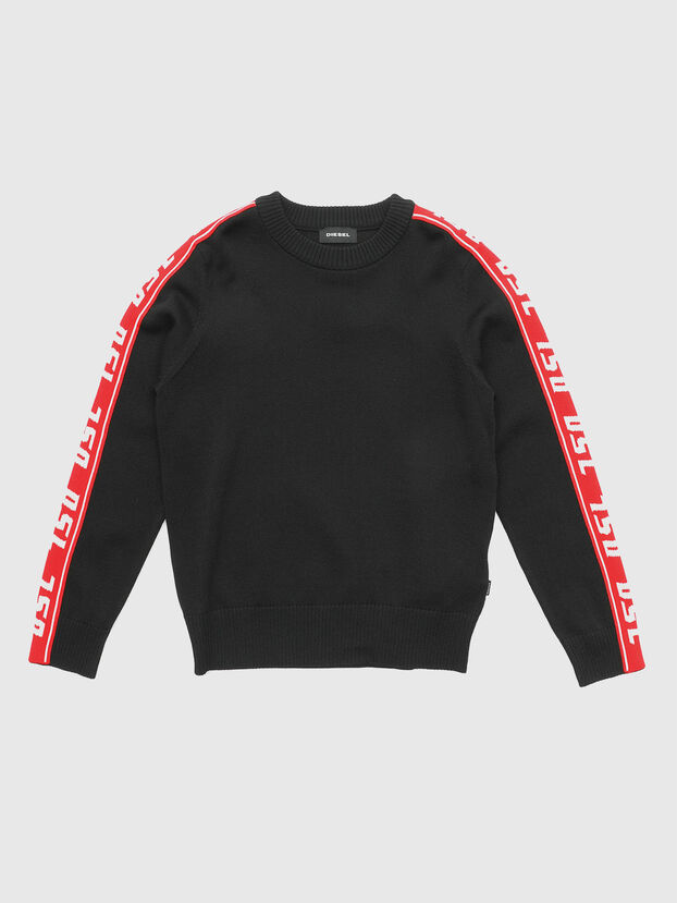 KTRACKBY, Noir/Rouge - Pull Maille