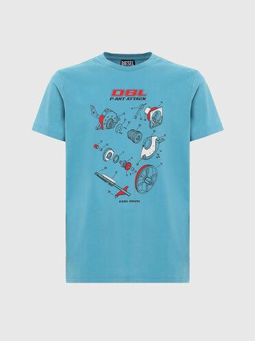 T-shirt en coton avec impression manuelle