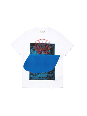 D-SHIELD-BLU, Blanc - T-Shirts