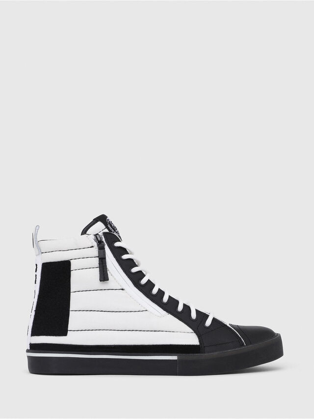 Diesel - D-VELOWS MID PATCH, Blanc/Noir - Baskets - Image 1