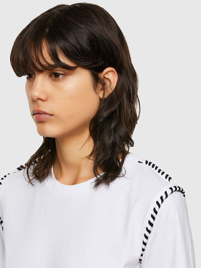 Diesel - T-TWISTY, Blanc - T-Shirts - Image 3