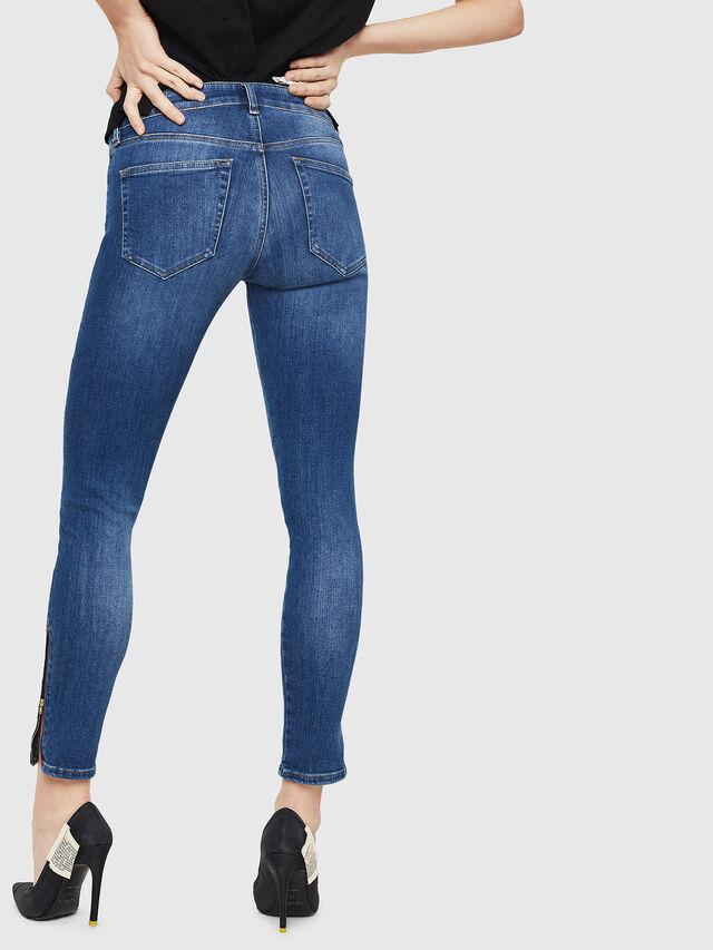 Diesel - Slandy Zip 088AU, Bleu moyen - Jeans - Image 2