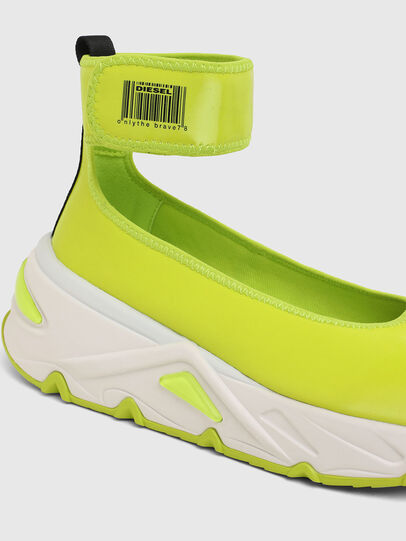 Diesel - S-HERBY BA W, Jaune - Chaussures Plates - Image 5