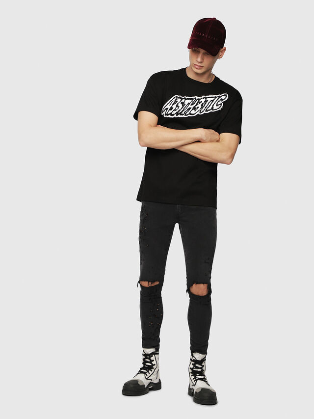 Diesel - T-WALLACE-YC, Noir - T-Shirts - Image 4