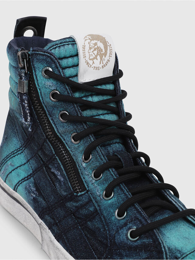Diesel - D-VELOWS MID LACE, Turquoise - Baskets - Image 5