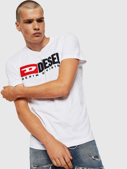 Diesel - T-DIEGO-DIVISION, Blanc - T-Shirts - Image 1