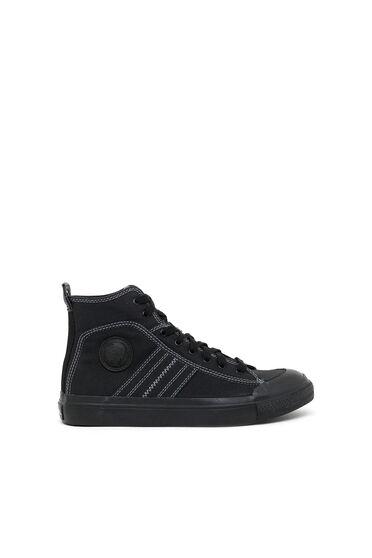 Sneakers mi-hautes en toile bicolore