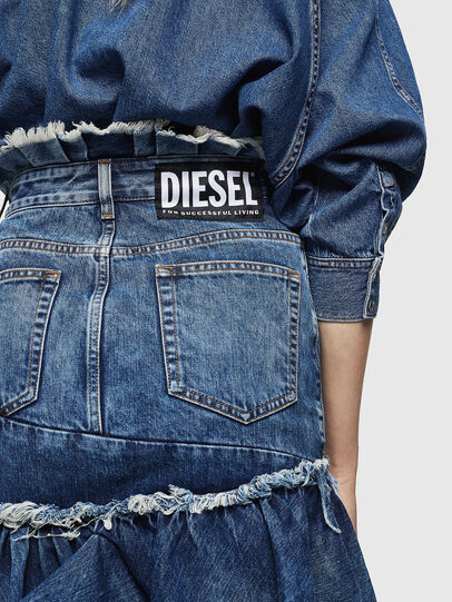 Diesel - DE-ALAYNA, Bleu moyen - Jupes - Image 3