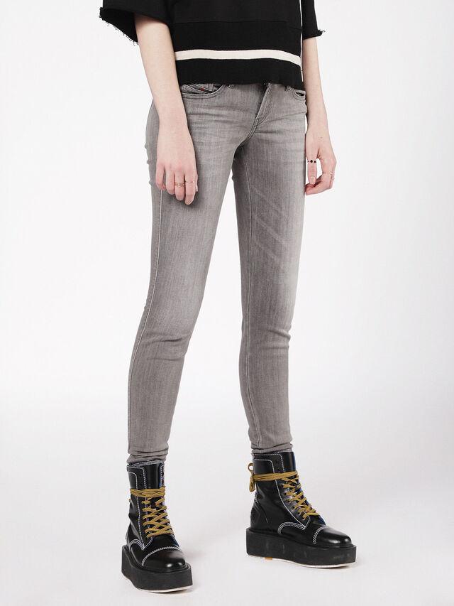 Diesel - Gracey 084VS, Gris Clair - Jeans - Image 1