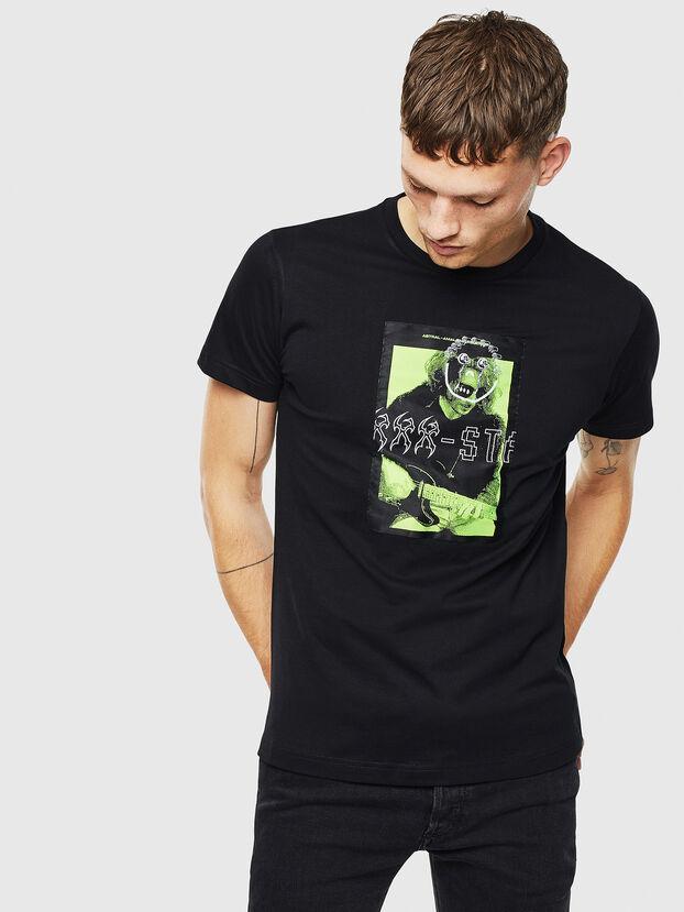 T-DIEGO-J1, Noir - T-Shirts