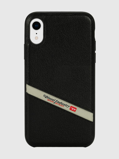 Diesel - DIESEL LEATHER CO-MOLD CASE FOR IPHONE XR, Noir - Coques - Image 2