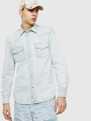 D-EAST-P, Jean Bleu - Chemises en Denim