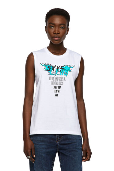 T-shirt sans manches avec imprimé sur le torse