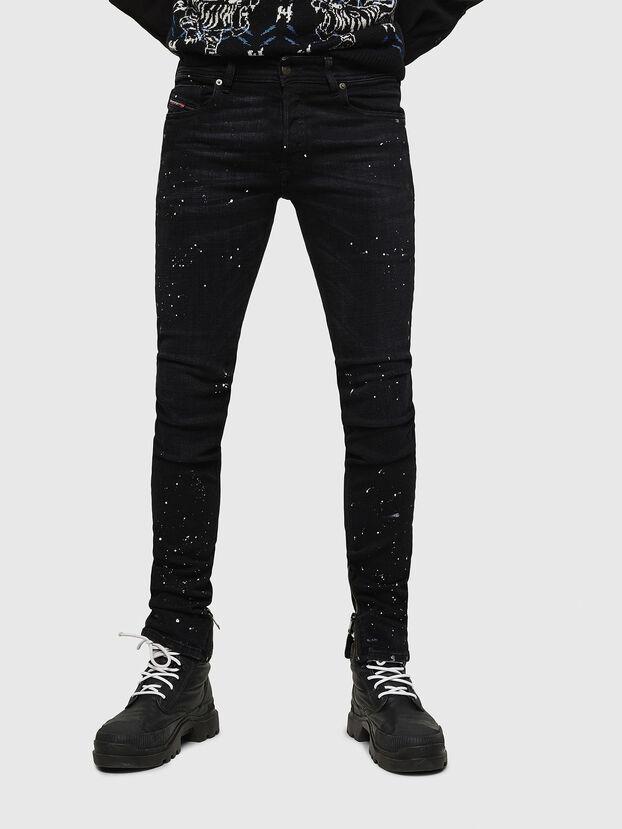 Sleenker Zip 0093X, Noir/Gris foncé - Jeans