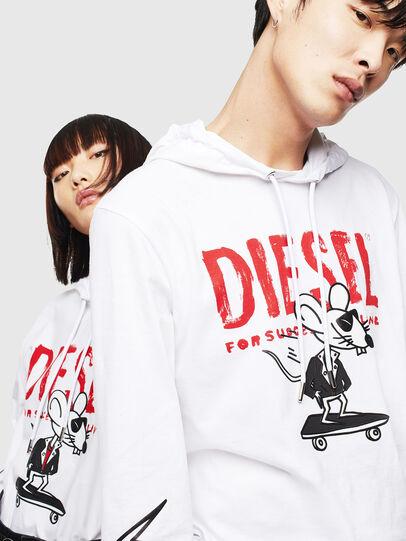 Diesel - CL-T-JUST-LS-HOOD, Blanc - T-Shirts - Image 4