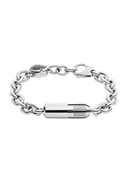 Diesel - BRACELET DX1024, Gris argenté - Bracelets - Image 1