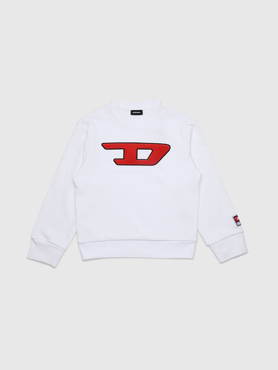 Diesel - SCREWDIVISION-D OVER, Blanc - Pull Cotton - Image 1