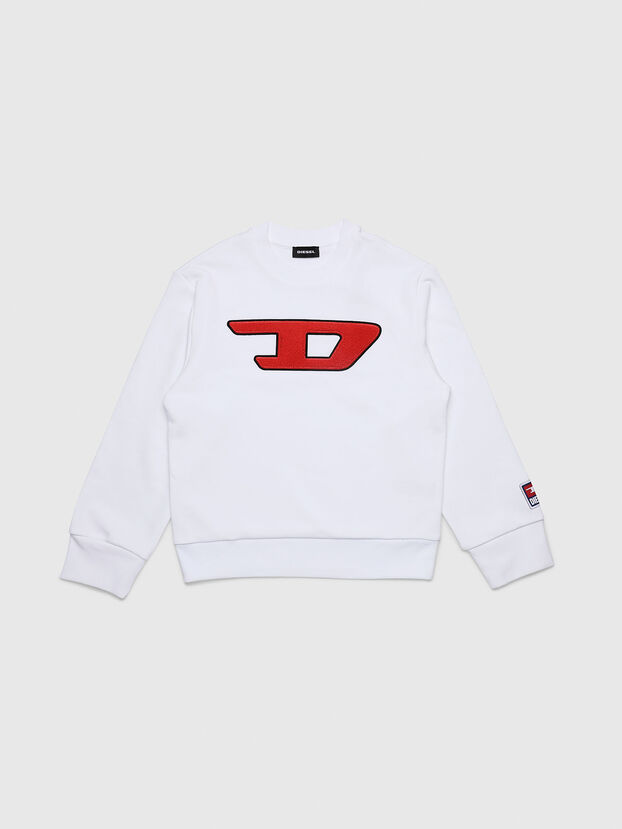 SCREWDIVISION-D OVER, Blanc - Pull Cotton