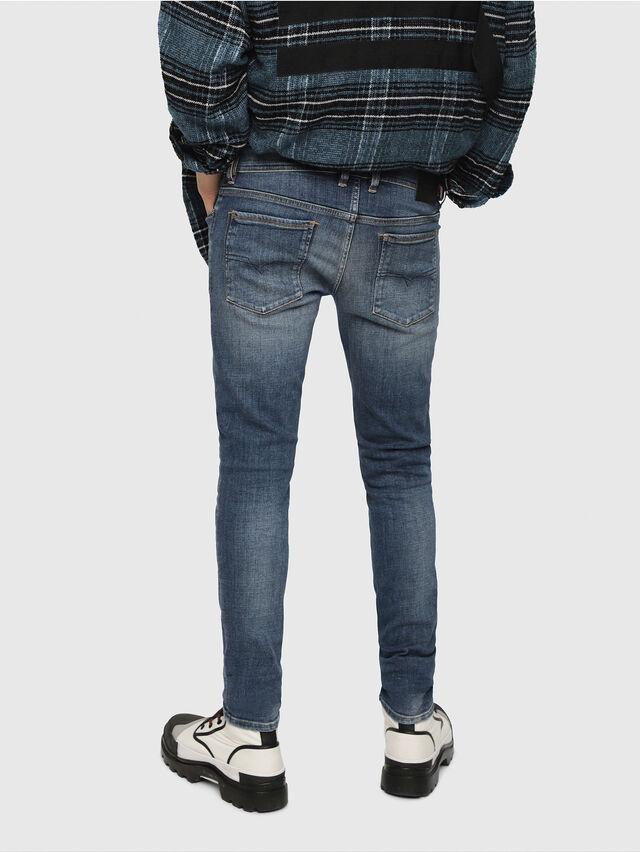 Diesel - Sleenker 082AB, Bleu Foncé - Jeans - Image 2