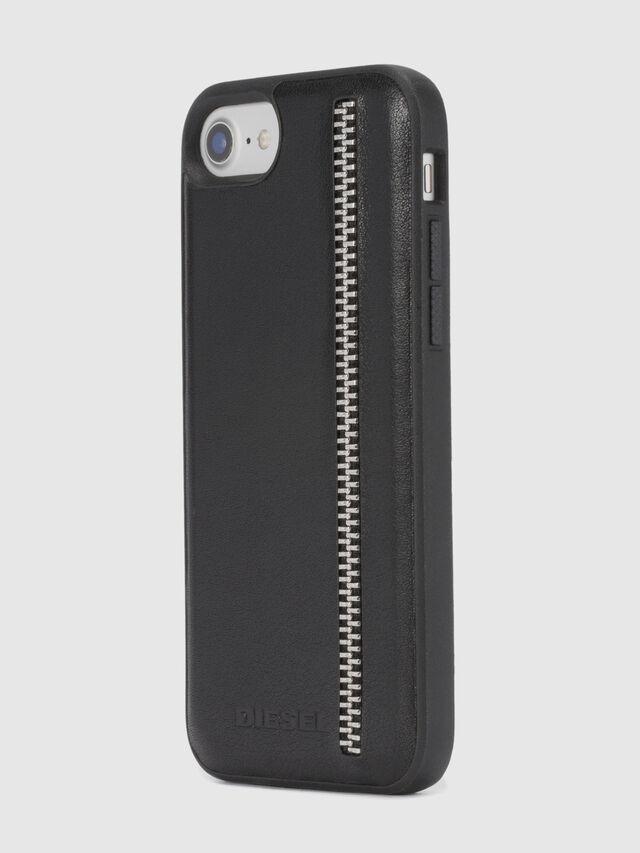 Diesel - ZIP BLACK LEATHER IPHONE 8 PLUS/7 PLUS/6s PLUS/6 PLUS CASE, Noir - Coques - Image 6