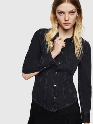DE-FLYP, Noir/Gris foncé - Chemises en Denim