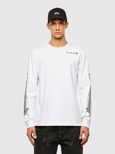 Diesel - T-JUST-LS-A8, Blanc - T-Shirts - Image 1