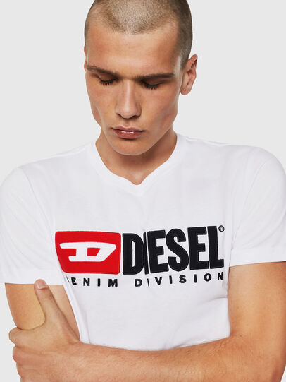 Diesel - T-DIEGO-DIVISION, Blanc - T-Shirts - Image 3