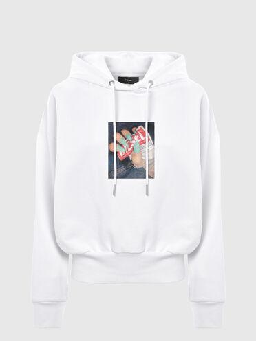 Sweat-shirt à capuche avec imprimé photo