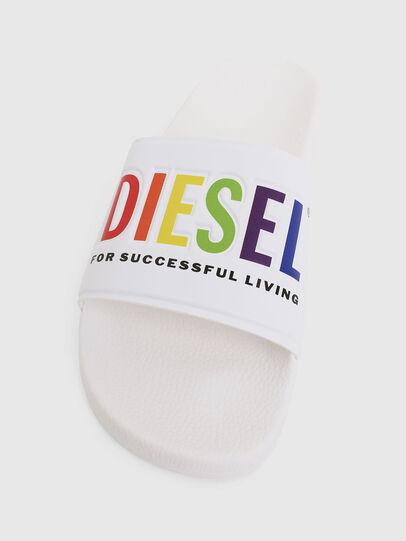 Diesel - SA-VALLA, Blanc - Claquettes - Image 5