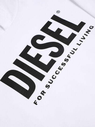 Diesel - SDIVISION-LOGO OVER, Blanc - Pull Cotton - Image 3