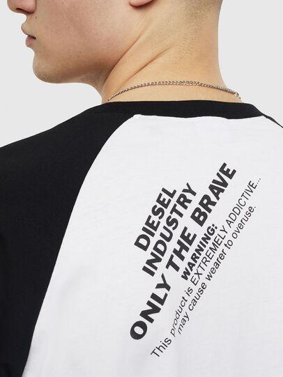 Diesel - T-RODDI, Blanc/Noir - T-Shirts - Image 4