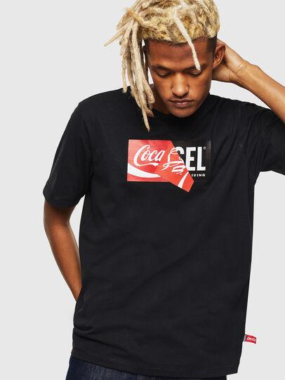 Diesel - CC-T-JUST-COLA, Noir - T-Shirts - Image 1