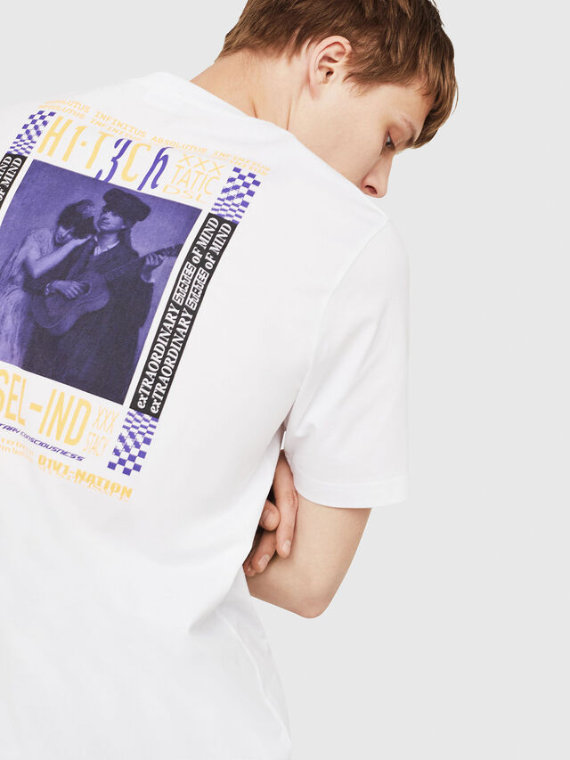 Diesel - T-JUST-Y15, Blanc - T-Shirts - Image 4