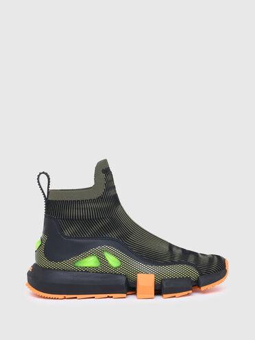 Sneakers façon chaussette avec détails bulles