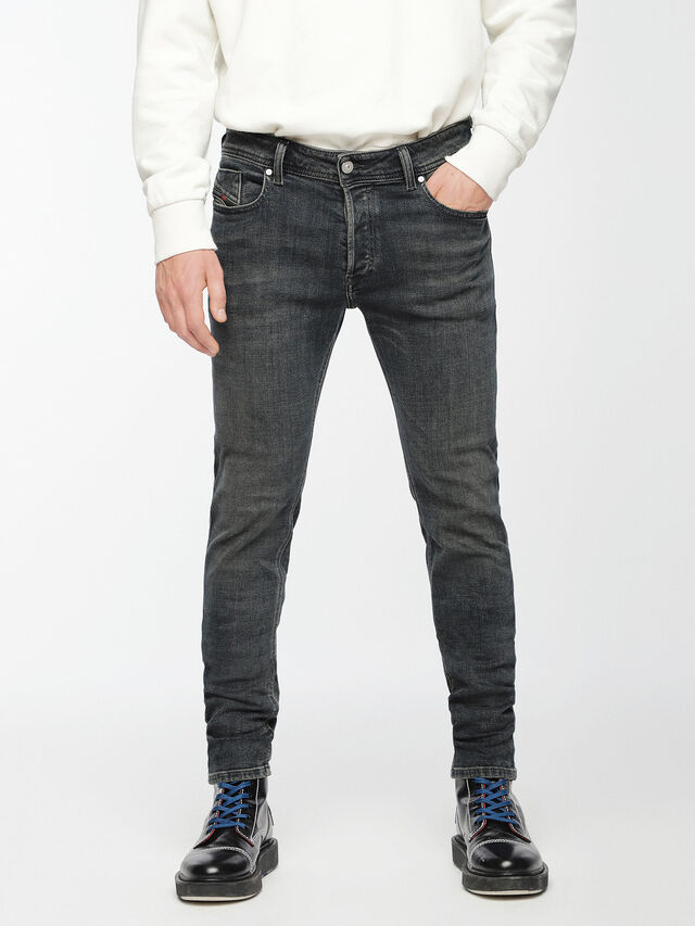Diesel - Sleenker 084VQ, Noir/Gris foncé - Jeans - Image 1