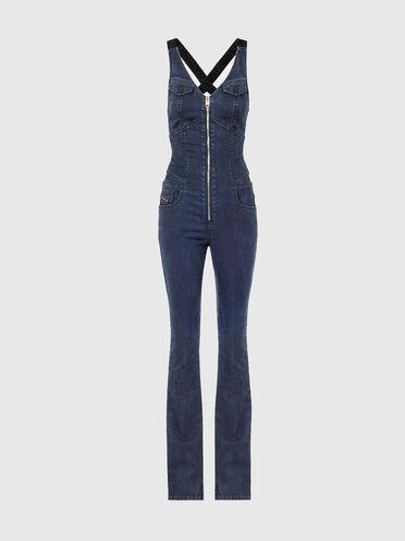 Combinaison en JoggJeans® avec fermeture zippée