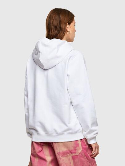 Diesel - F-ANG-HOOD-SMALLOGO, Blanc - Pull Cotton - Image 2