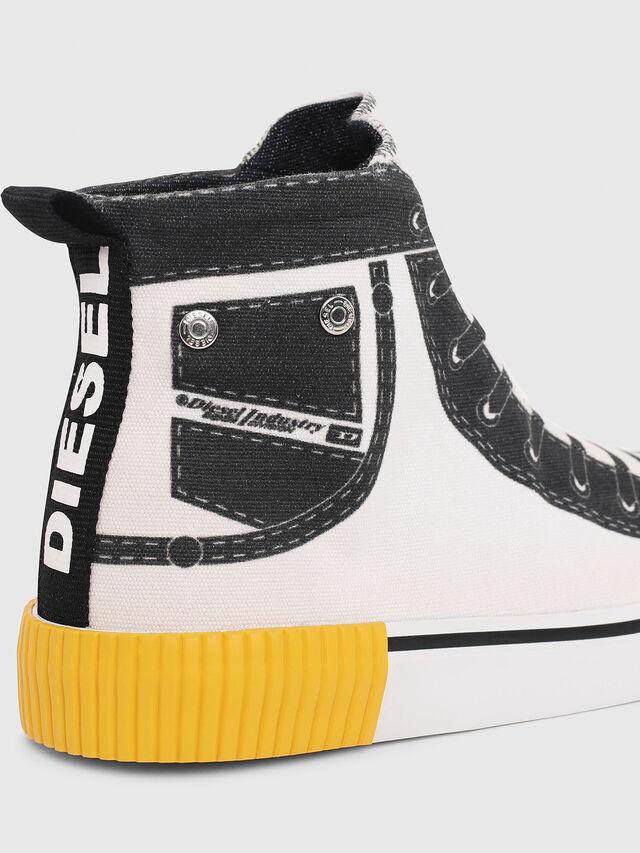 Diesel - SN MID 08 GRAPHIC CH, Blanc/Noir - Footwear - Image 4